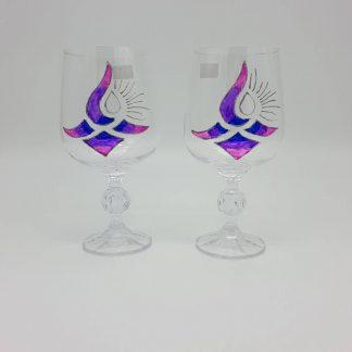 Бутикови ръчно рисувани чаши за вино